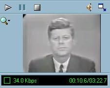 JFK delivering address on civil rights screenshot