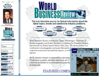 World Business Review site screenshot