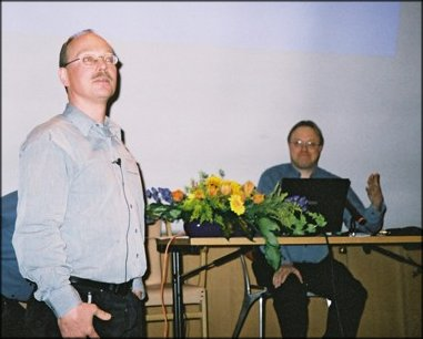 Mogens Sandfaer (chair) and Juha Hakala