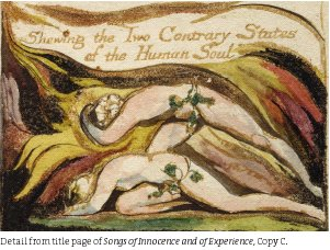 photo detail from title page (28KB): Songs of Innocence and of Experience)