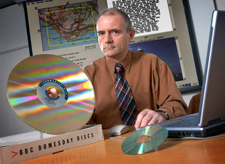 photo (41KB): Adrian Pearce, the developer of the 1986 Domesday Community