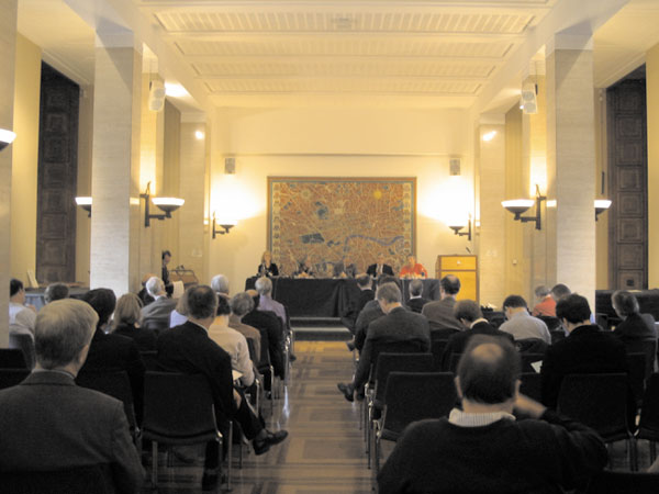 photo (50KB): Scene of the one-day conference at Senate House, University of London