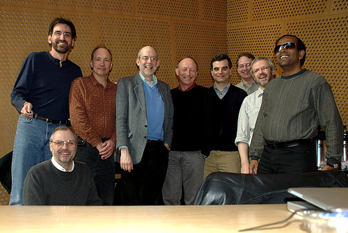 photo (147KB) : Figure 1 : TAG members : Norm Walsh (Sun Microsystems), Rhys Lewis (Volantis), Tim Berners-Lee(W3C), Henry S. Thompson (University of Edinburgh), (Vincent Quint, INRIA, membership term now expired), Noah Mendelsohn (IBM), Dan Connolly (W3C), Stuart Williams (HP), T.V. Raman (Google)