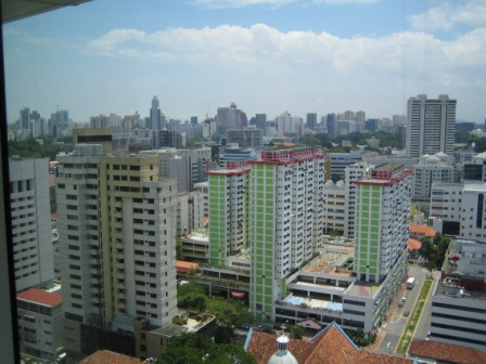 photo (57KB) : Figure 2 : View from Floor 14 of Singapore National Library