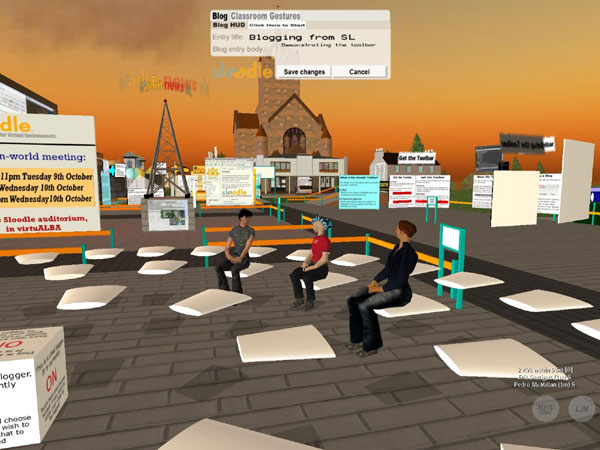 screenshot (67KB) : Figure 2 : Meeting up at VirtuALBA