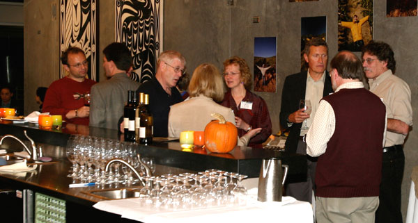 photo (56K) : Figure 1 : Welcome Reception at the state-of the-art Novelty Hill Winery (picture courtesy of Stu Weibel)