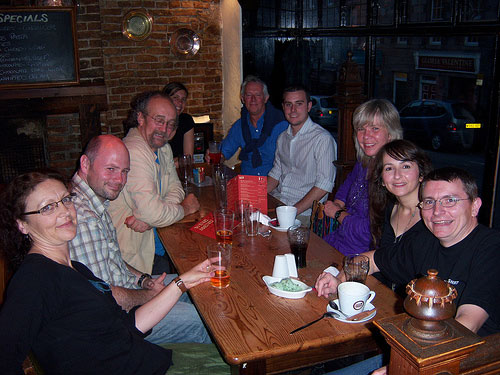 photo (61KB) : Figure 7 : Good company at the Old Blackfriars