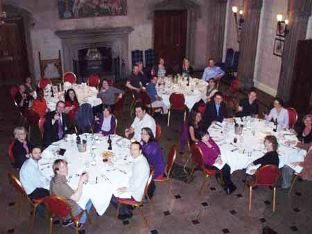 photo (35KB) : Conference Dinner. Photo courtesy of Dominic Tate©, SHERPA/RSP, University of Nottingham