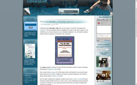 screenshot (27KB) : Figure 5 : PLCMC teen blog - LibraryLoft