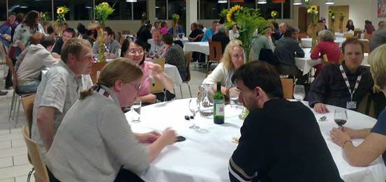 photo (34KB) : The conference meal on the first day took place at The Edge, University of Sheffield