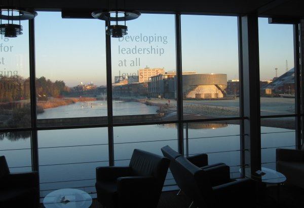 photo (39KB) : View from the conference venue to the Learning Sciences Research Institute of the University of Nottingham, photo: Tore Hoel