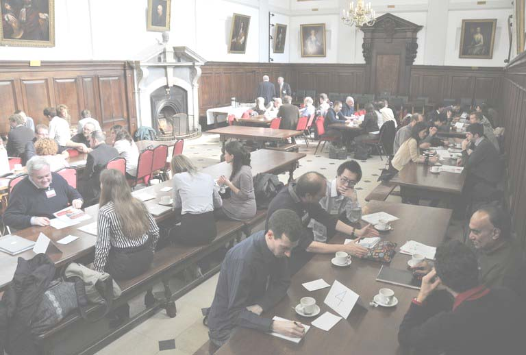 The collaborative ideas session, held in the College's dining room