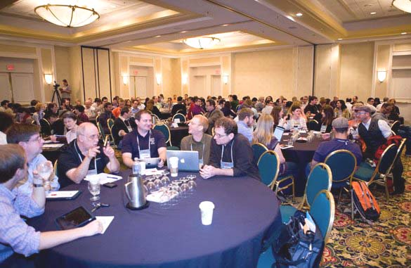 "Figure 6: A full house for Jeffrey Zeldman's keynote address entitled ""Content First"""