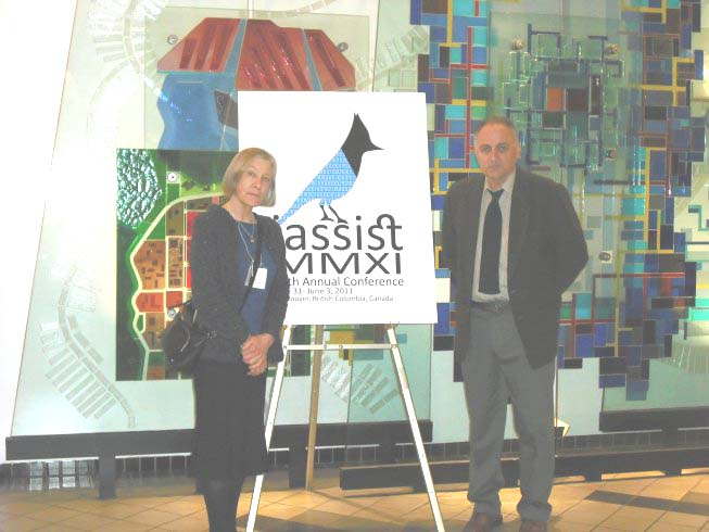 Co-organisers of the 37th IASSIST Conference: Mary Luebbe, Data Services Librarian, University of British Columbia Libraries and Walter Piovesan, Director, Research Data Services, Simon Fraser University.