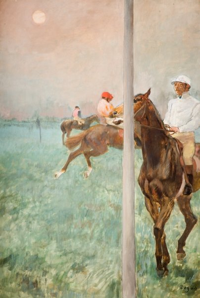 Figure 8: Degas, Edgar (1878-1879). Jockeys before the race [Painting]<br />
