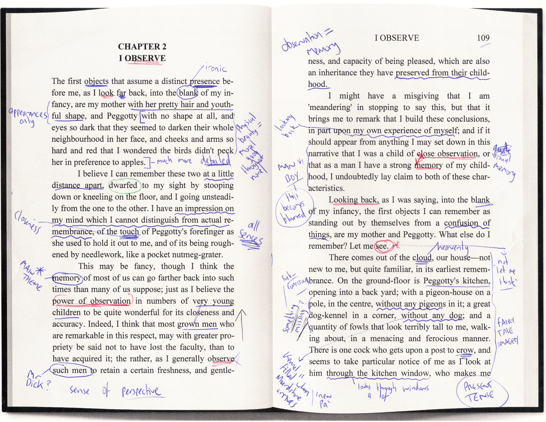 Figure 1: Manual annotation of a text
