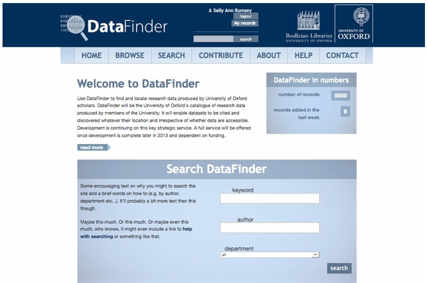 Figure 4: DataFinder demonstrator interface