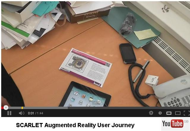 SCARLET Augmented Reality User Journey. © Mimas, University of Manchester, video on YouTube