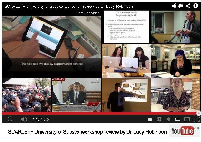 SCARLET+ University of Sussex workshop review by Dr Lucy Robinson. © Mimas, University of Manchester, video on YouTube.