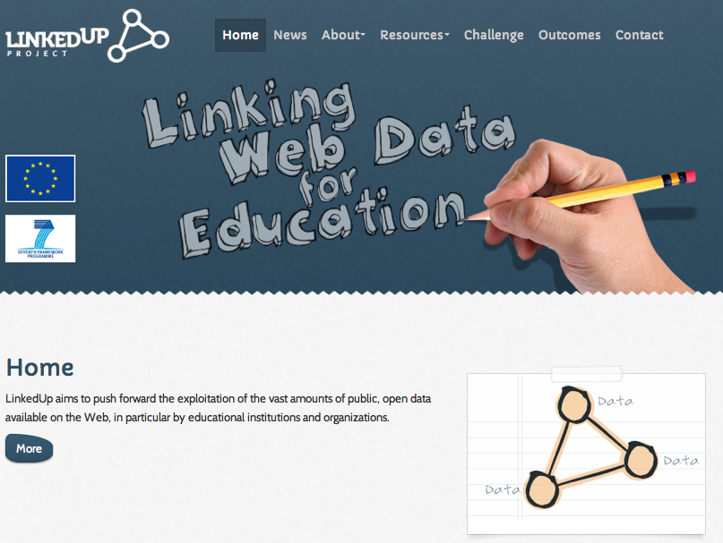 Figure 1: The LinkedUp Web site