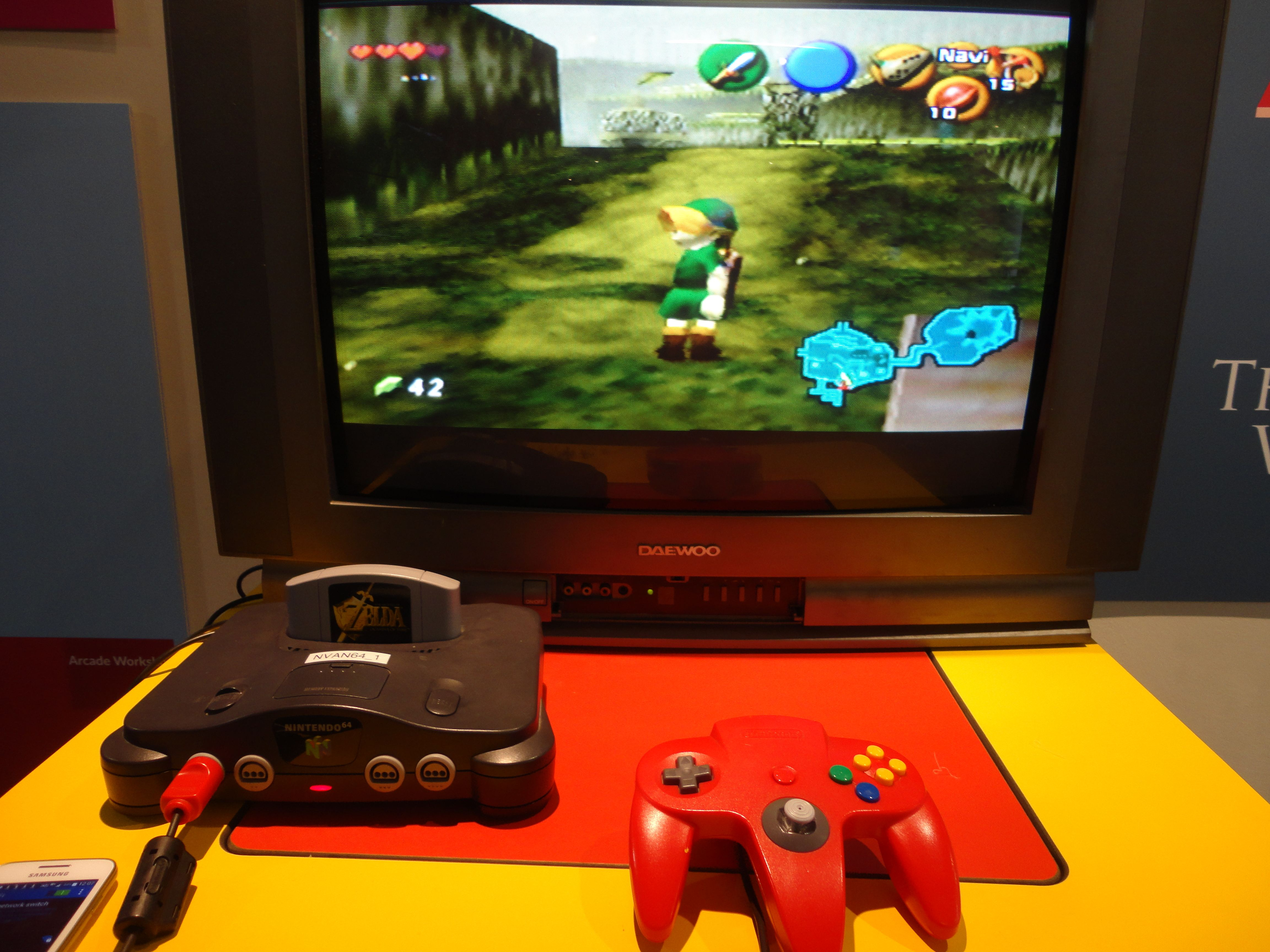 A screen shot of Zelda being played at the National Video Games Archive